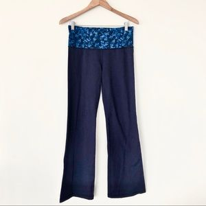 Lululemon Groove Pant II 2 blue mystic jungle hawk